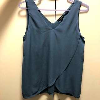 Massimo Dutti 女裝藍色背心 ladies sleeveless soft
