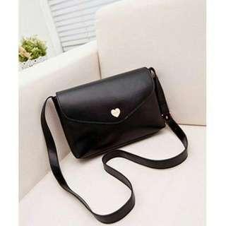 Simple Black Sling Bag