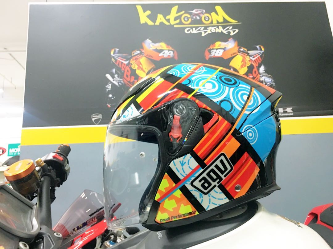 Agv K5 Jet Elements Open Face Helmet Calentino Rossi Motorcycles Motorcycle Apparel On Carousell