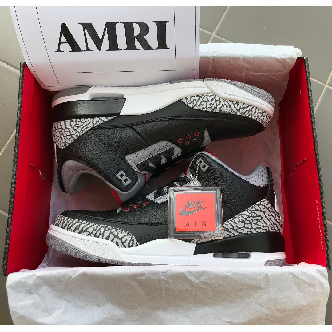 ee40958718ced9 AIR JORDAN III RETRO  BLACK CEMENT    INTERNATIONAL FLIGHT