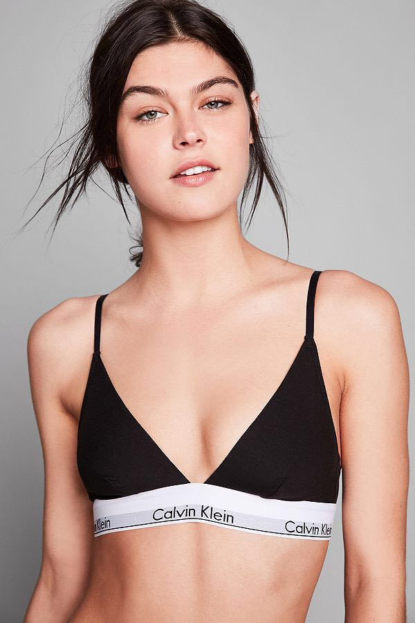 5bf67bd1c3ea Authentic Calvin Klein Triangle Bralette and Thong Set, Women's ...