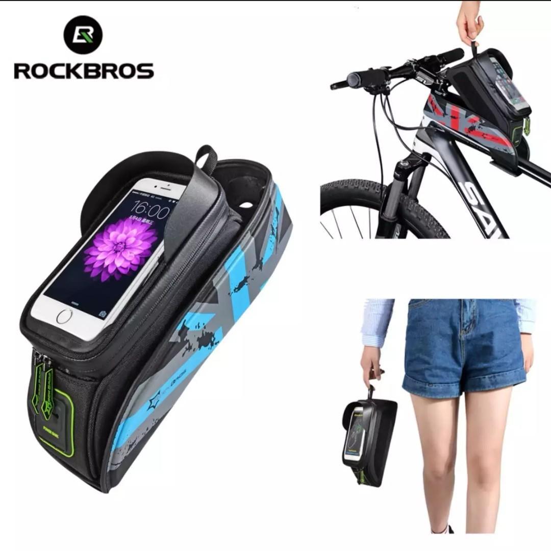 Bike Bag Front Phone Bicycle Bag Tube Waterproof Saddle Package Bike Accessories