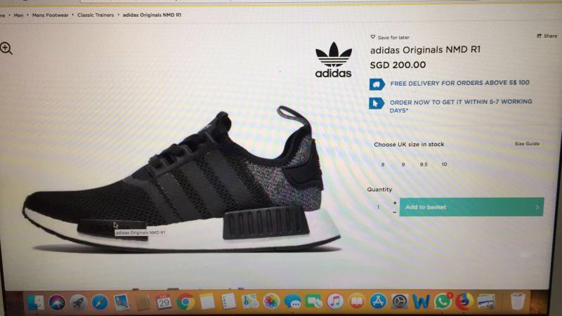 058f67e2b BNIB Adidas originals NMD R1 UK9