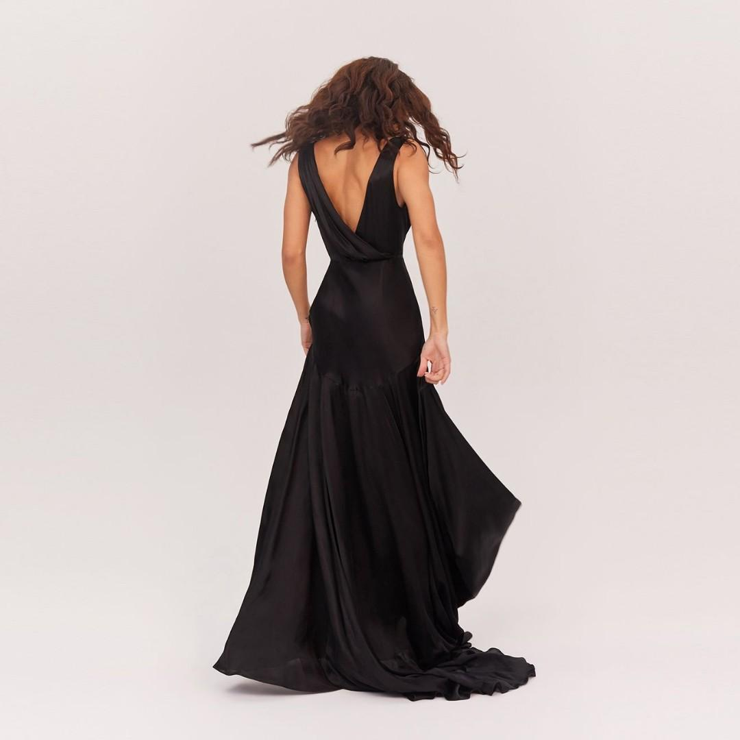 BNWT FAME & PARTNERS BLACK ESCALA DRESS - SIZE 14