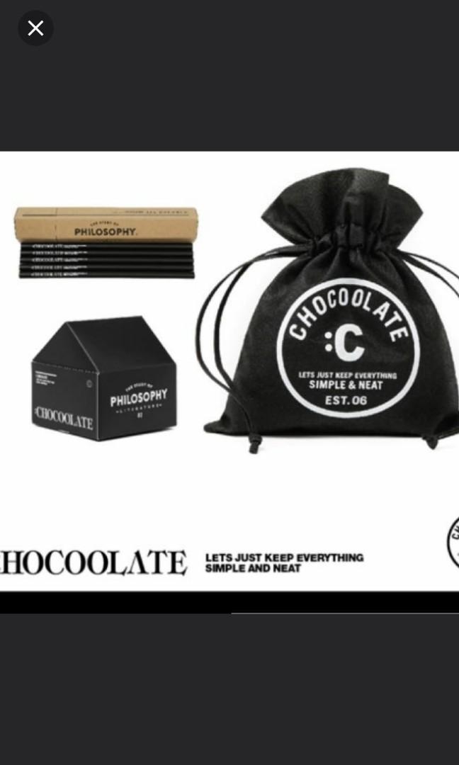 【全新】:Chocoolate 文具 (索繩袋、Memo、鉛筆)