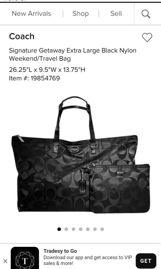 Nylon Extra Large Weekend Travel Bag