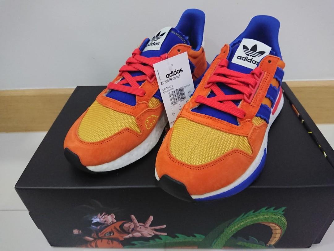 low cost dc935 a52b7 Dragonball Z x Adidas ZX 500 Goku, Men's Fashion, Footwear ...