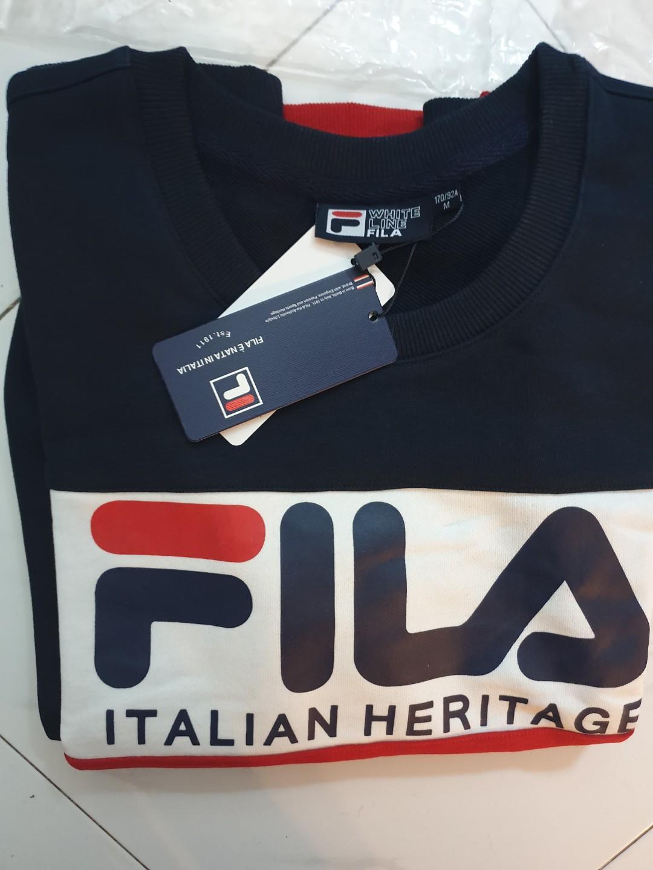 Fila Italian Heritage Tri Color Pullover, Men's Fashion ...