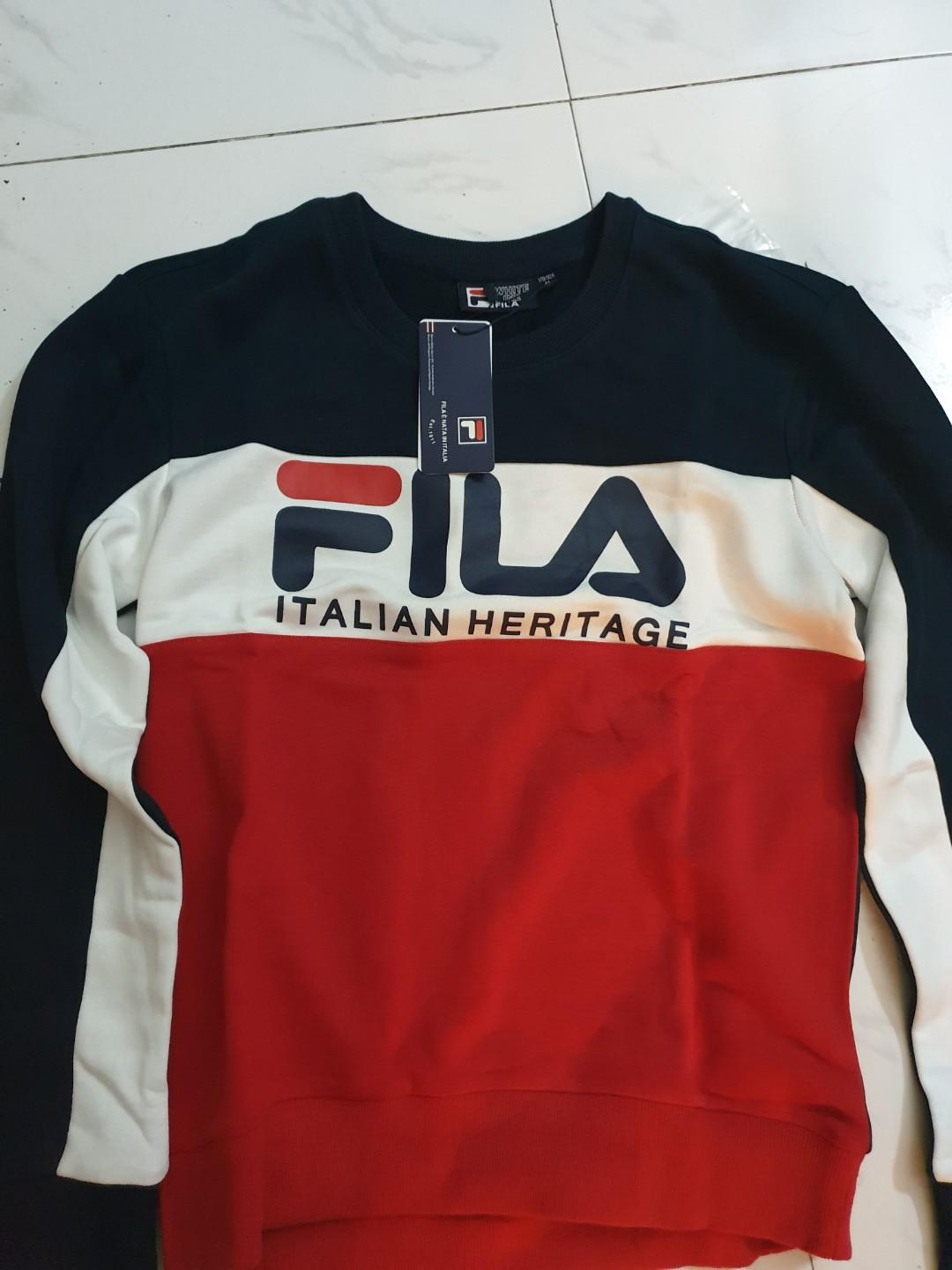 Fila Italian Heritage Tri Color Pullover, Men's Fashion ...