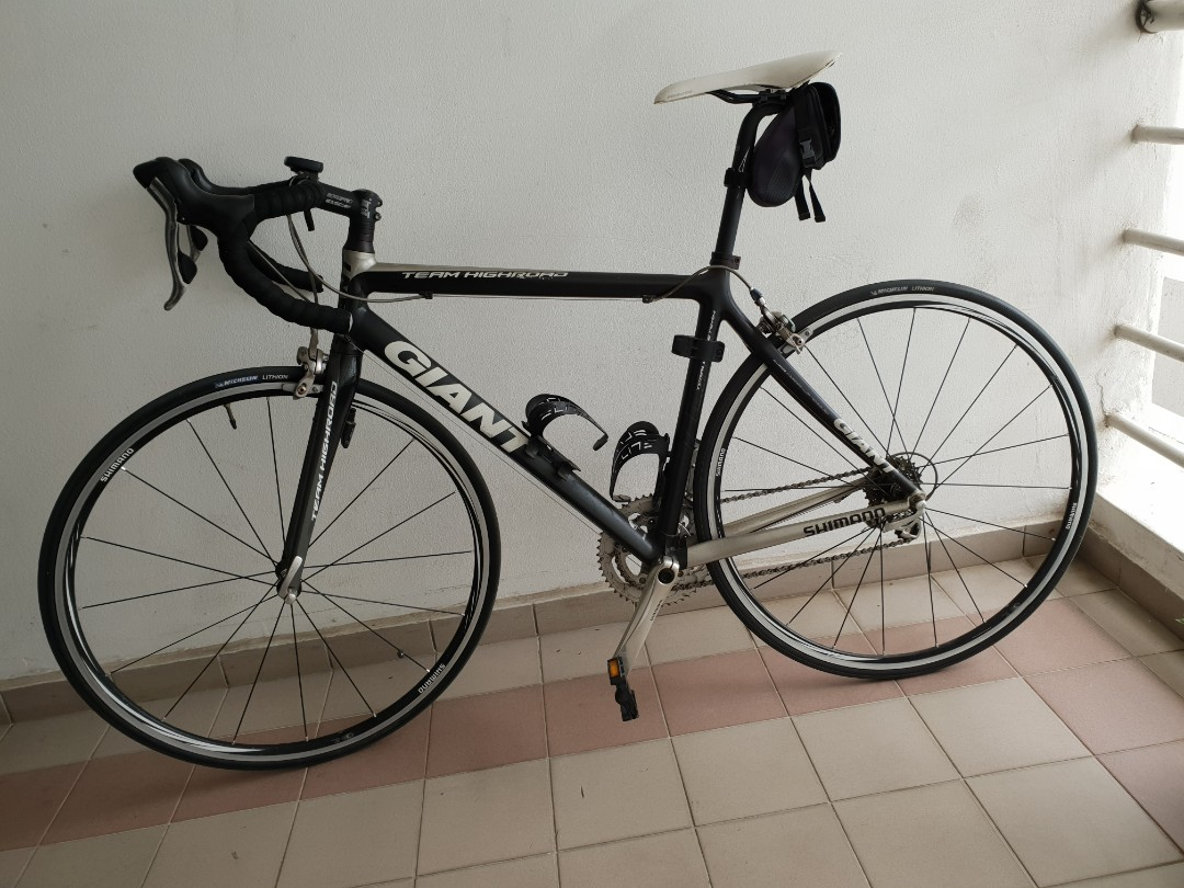 Carbon Fiber Bikes >> Giant Road Bike With Carbon Fiber Frame Bicycles Pmds Bicycles