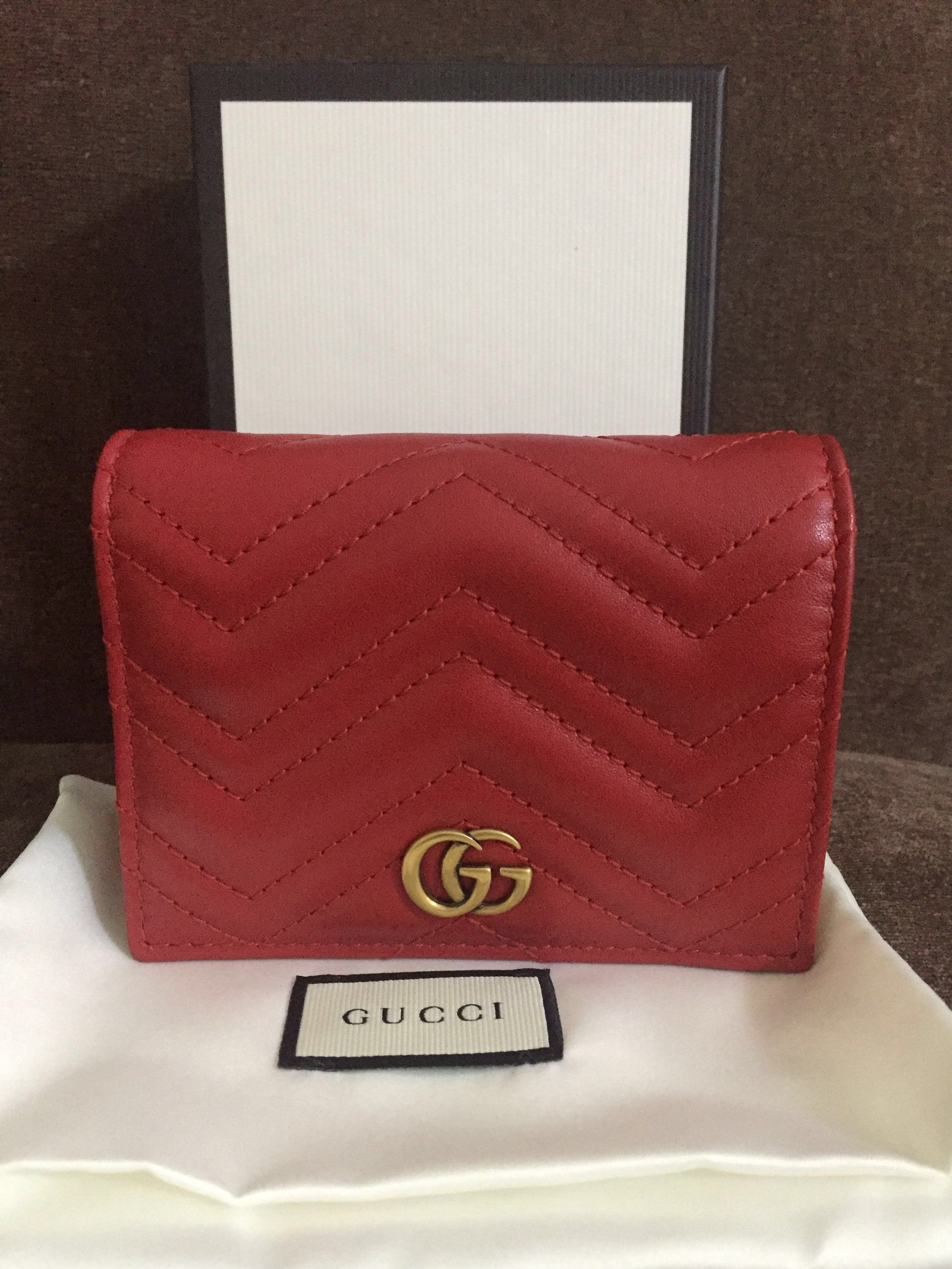 3c63d4a8ed67 Gucci Marmont cardholder / small wallet (Authentic), Luxury, Bags & Wallets,  Wallets on Carousell