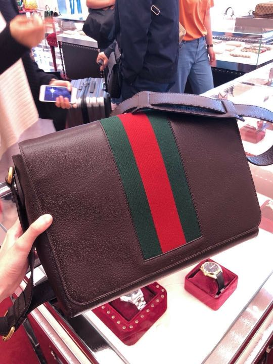 4da8576e8 Gucci outlet men's bag 50% off, Luxury, Bags & Wallets, Sling Bags on  Carousell