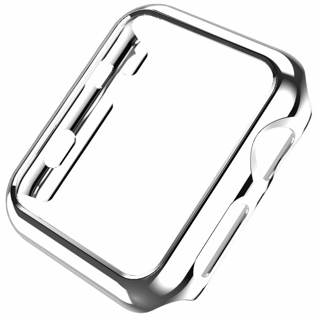best sneakers 56a26 52e66 hoco.PC Protective Case for Apple Watch iWatch Series 2 / Series 3 Plating  Cover Shell Bumper Case Silver-42mm
