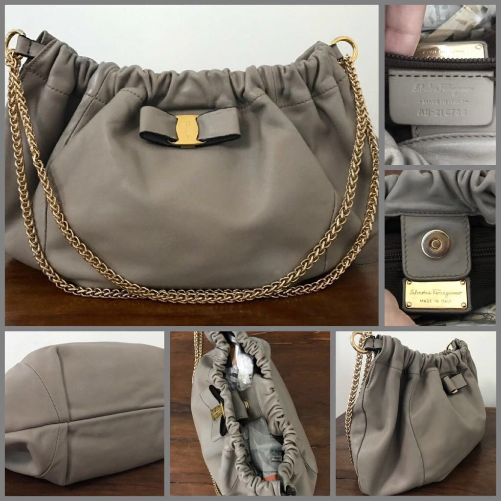 7631a71702 🔥HOT ITEM OF THE MONTH🔥Salvatore Ferragamo Hobo Chain Handle Bag ...