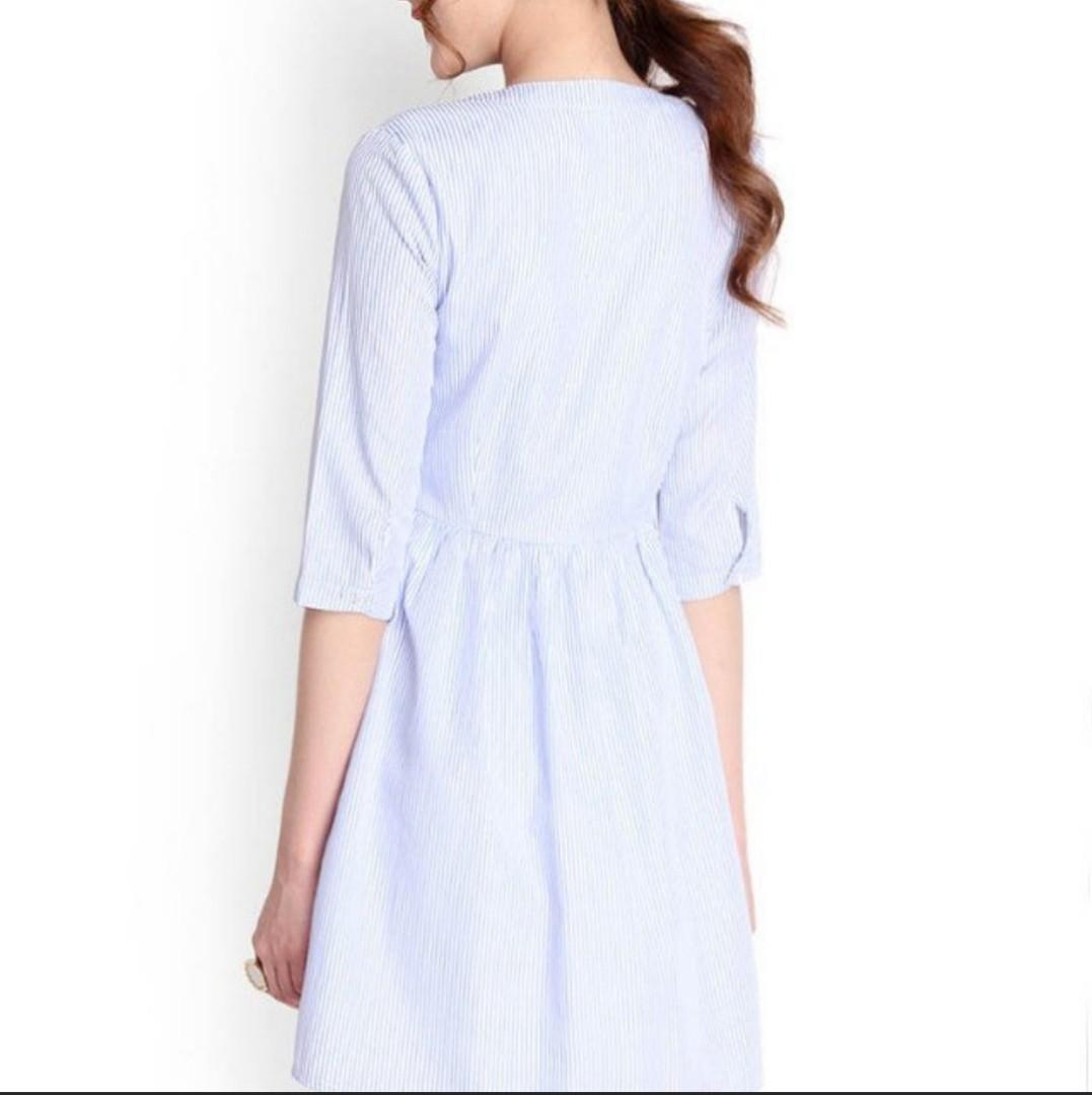 Lilypirates Sound of Music dress in Blue Stripes