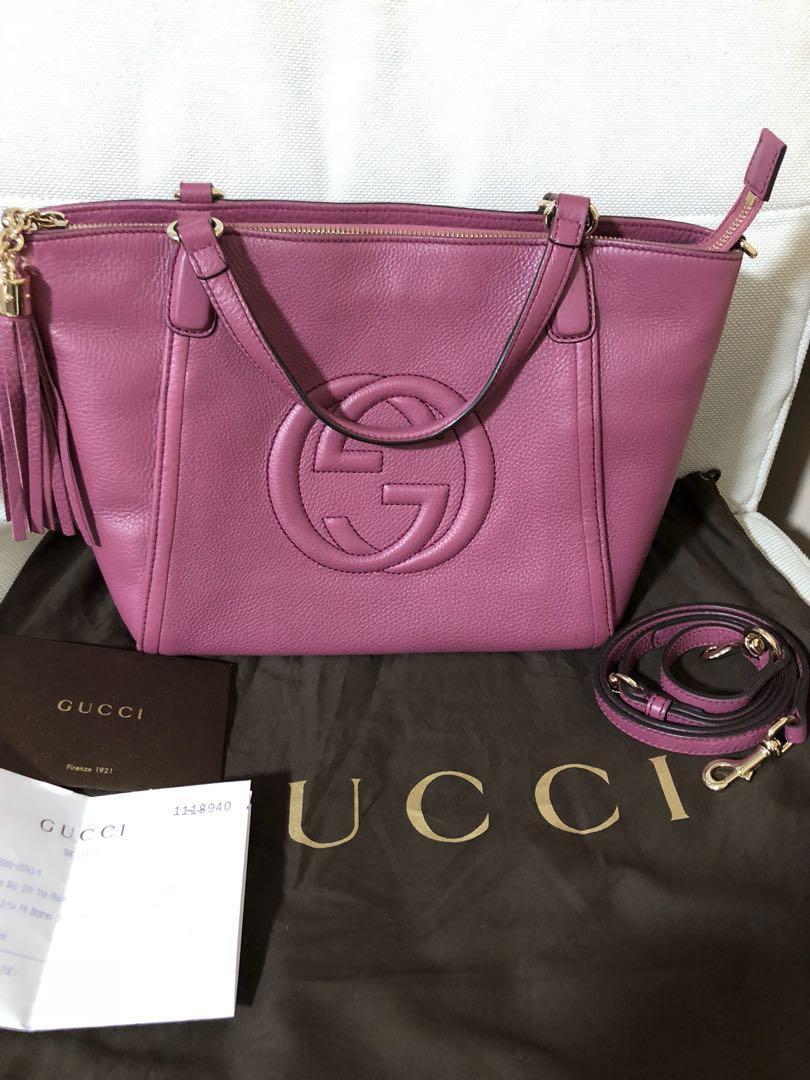 LN Gucci Soho Leather Hobo Bag 819f61a430316