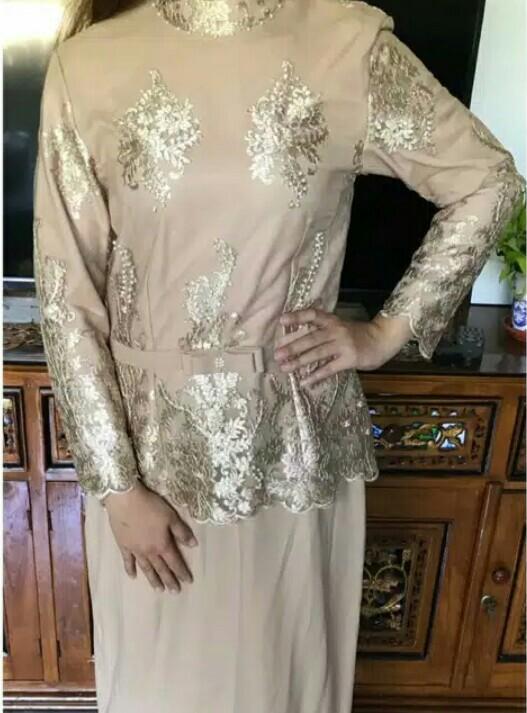Long Dress Brukat Gaun Kebaya Kondangan Women S Fashion Muslim