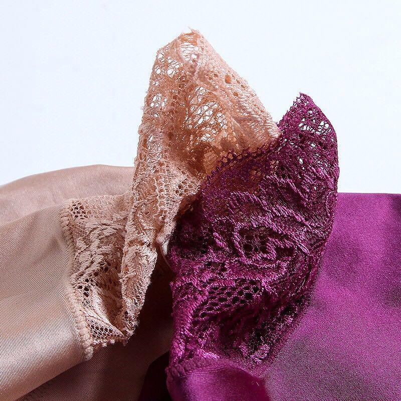 luxury pearl cloth bud silk stitching sexy underwear a piece incognito panties in low M - XL