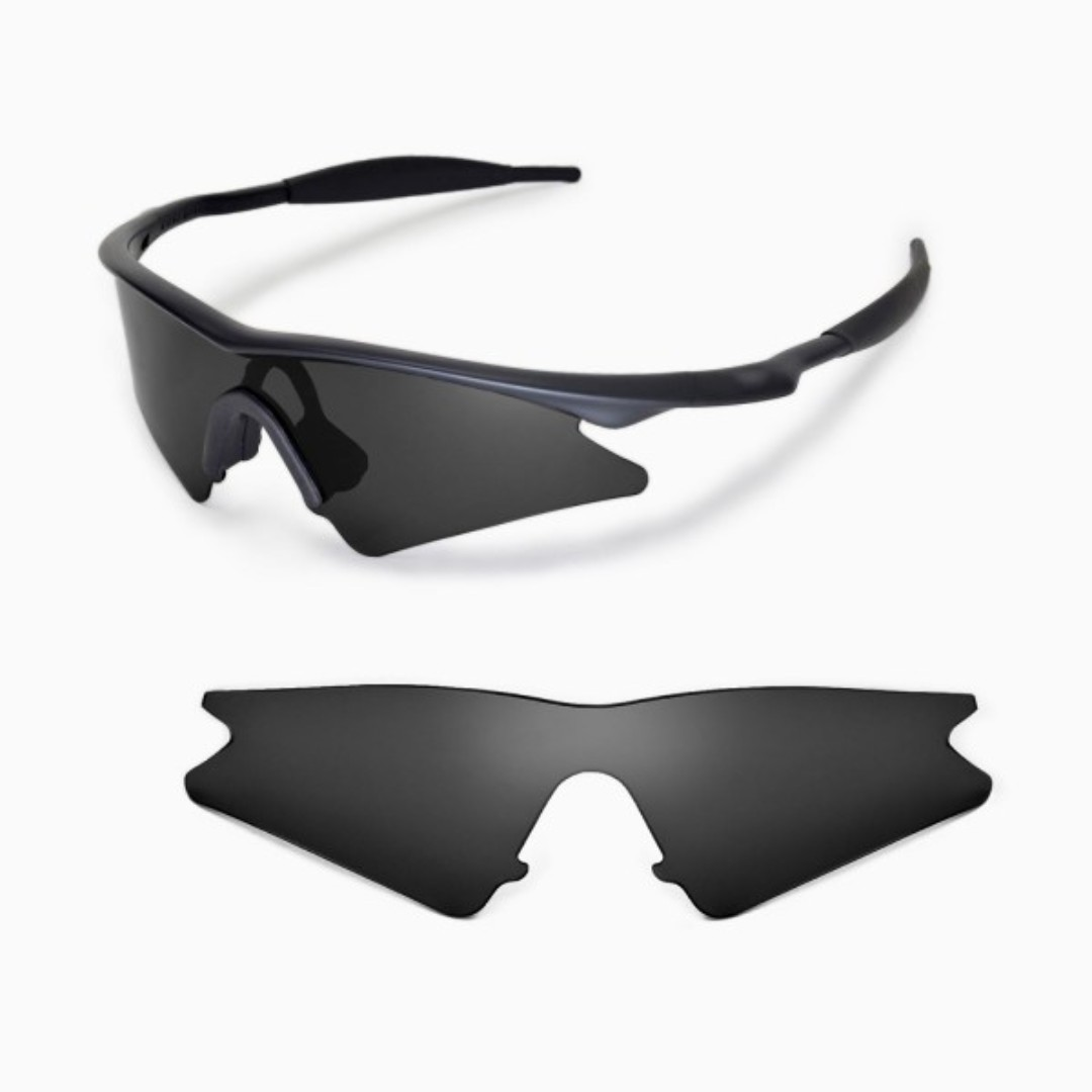 25a860f05d0 M Frame Sweep Black POLARIZED Walleva Replacement Lenses for Oakley ...