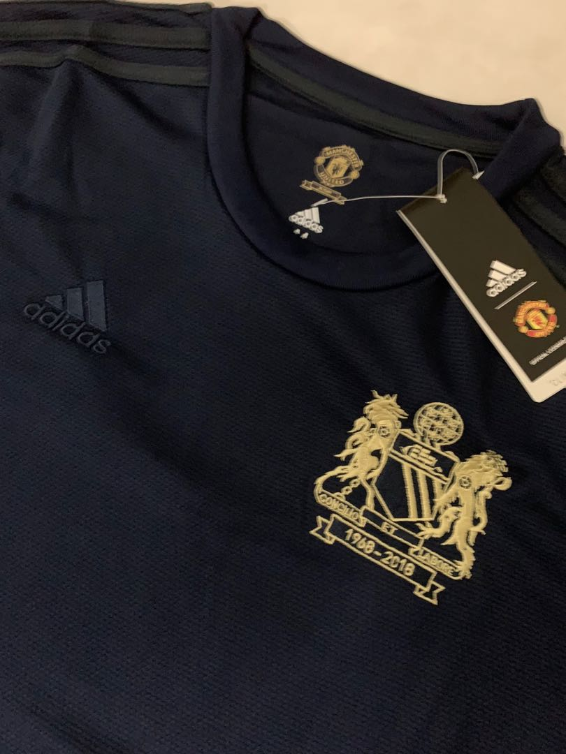4d416dd96 Man Utd 50th Anniversary Limited Edition Jersey M Size, Sports, Sports  Apparel on Carousell