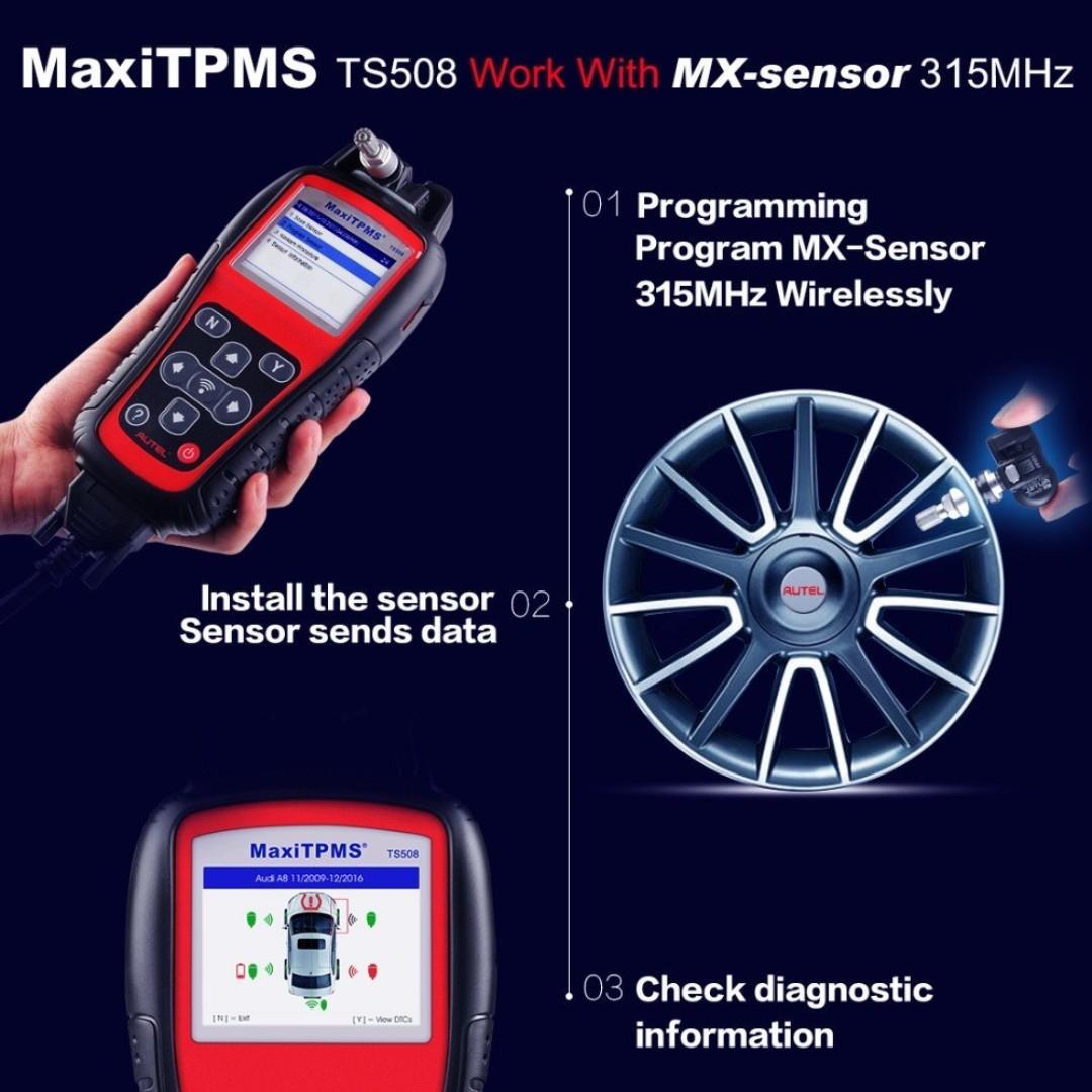 MaxiTPMS® TS508 is a new generation TPMS diagnostic & service tool