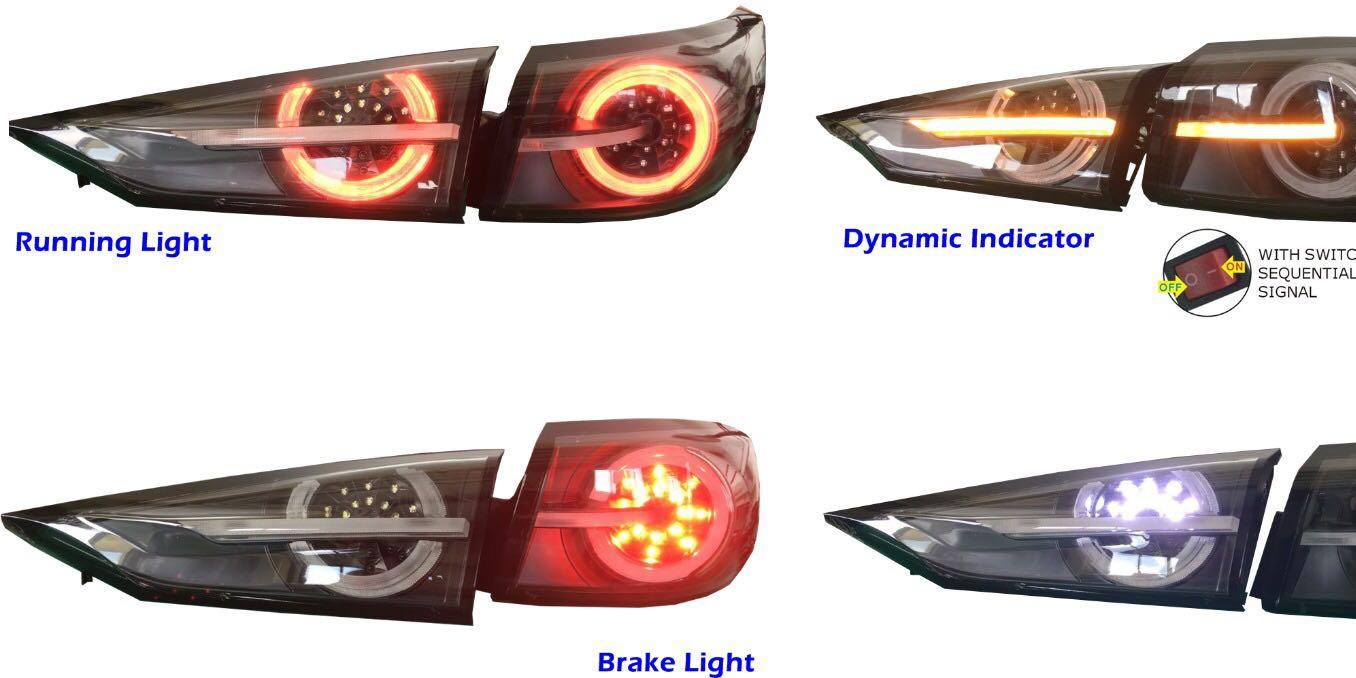 Mazda 3 Sequential LED Tail Light (2014 onwards - current