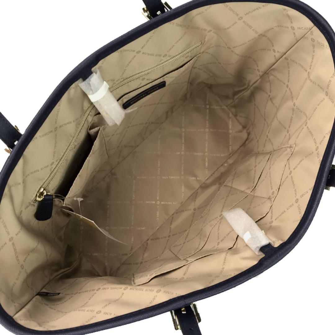 e80a69b920e4 NEW ARRIVAL Michael Kors Jet Set Travel Medium Carryall Tote Bag Navy
