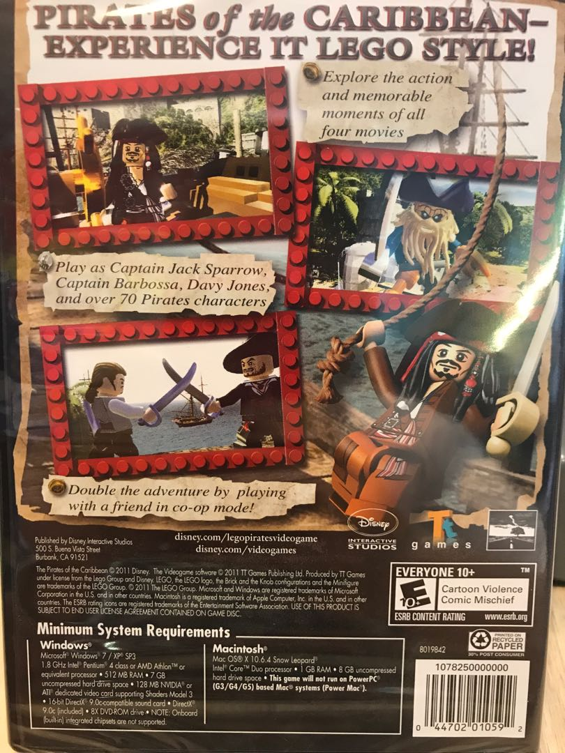 Pc Lego Pirates Of The Caribbean Toys Games Video Gaming Video