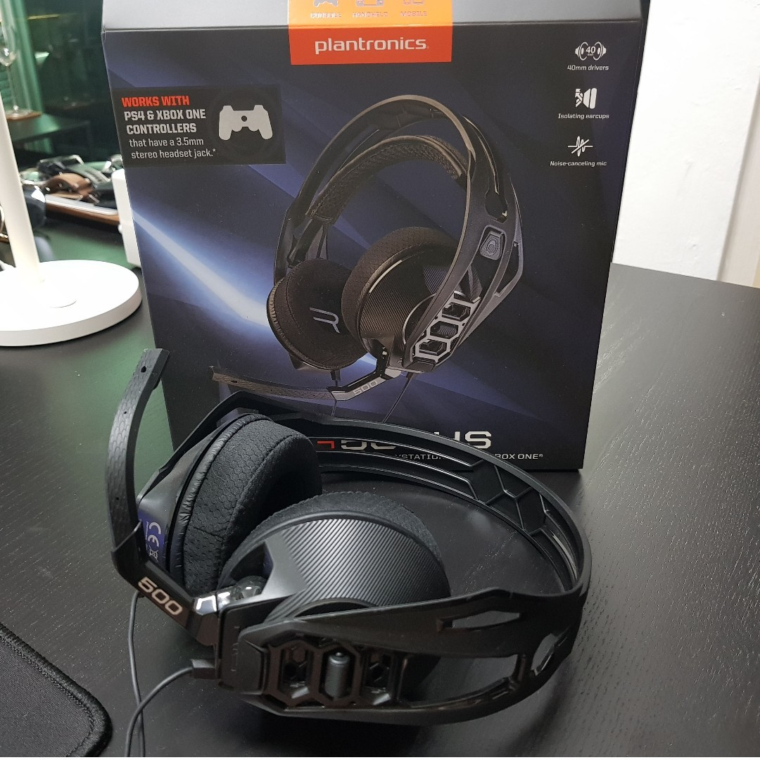 Plantronics RIG 500HS (Stereo Gaming Headset for PS4 & Xbox)