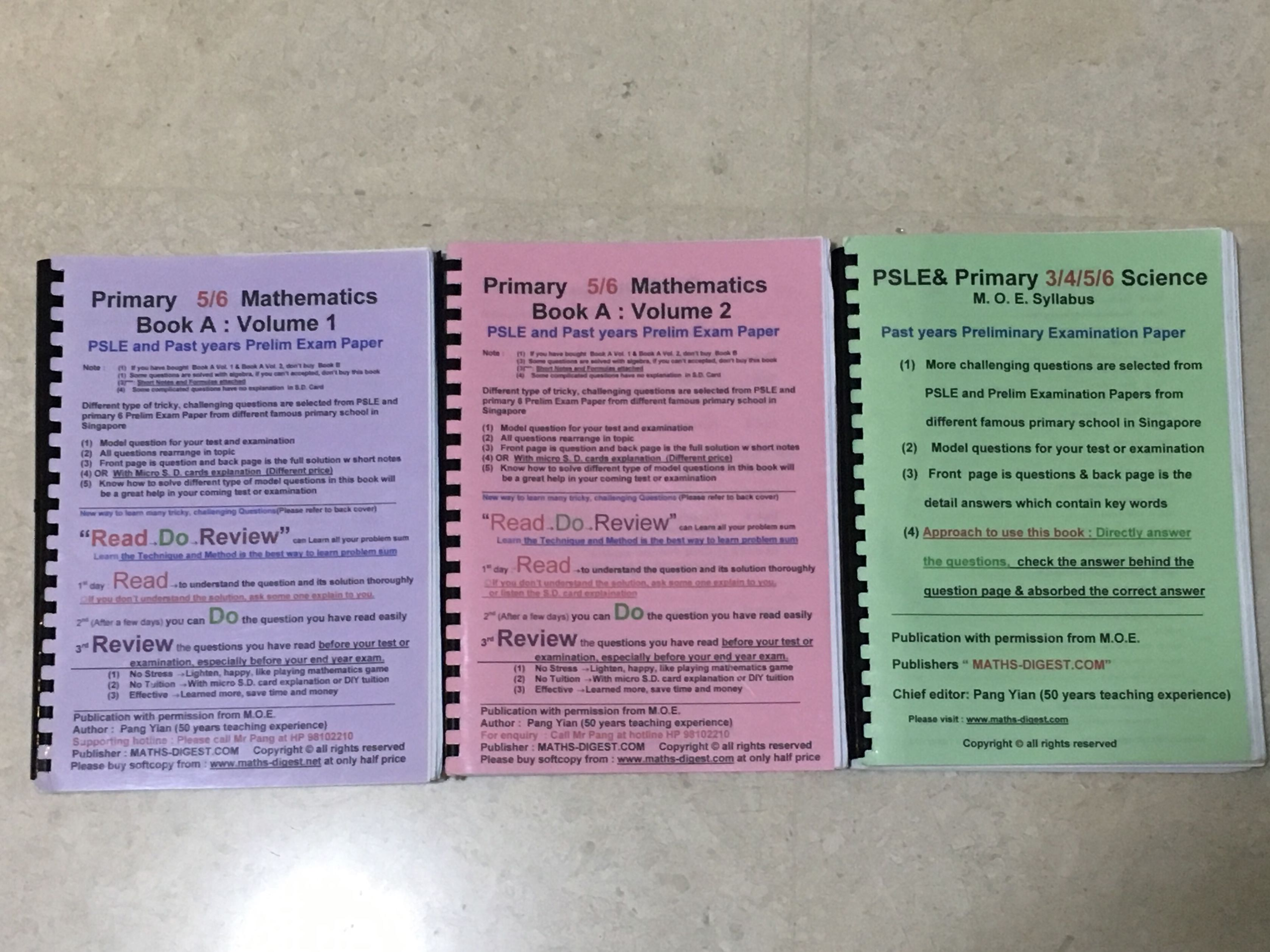 PSLE and past year prelim exam paper(Math and Science
