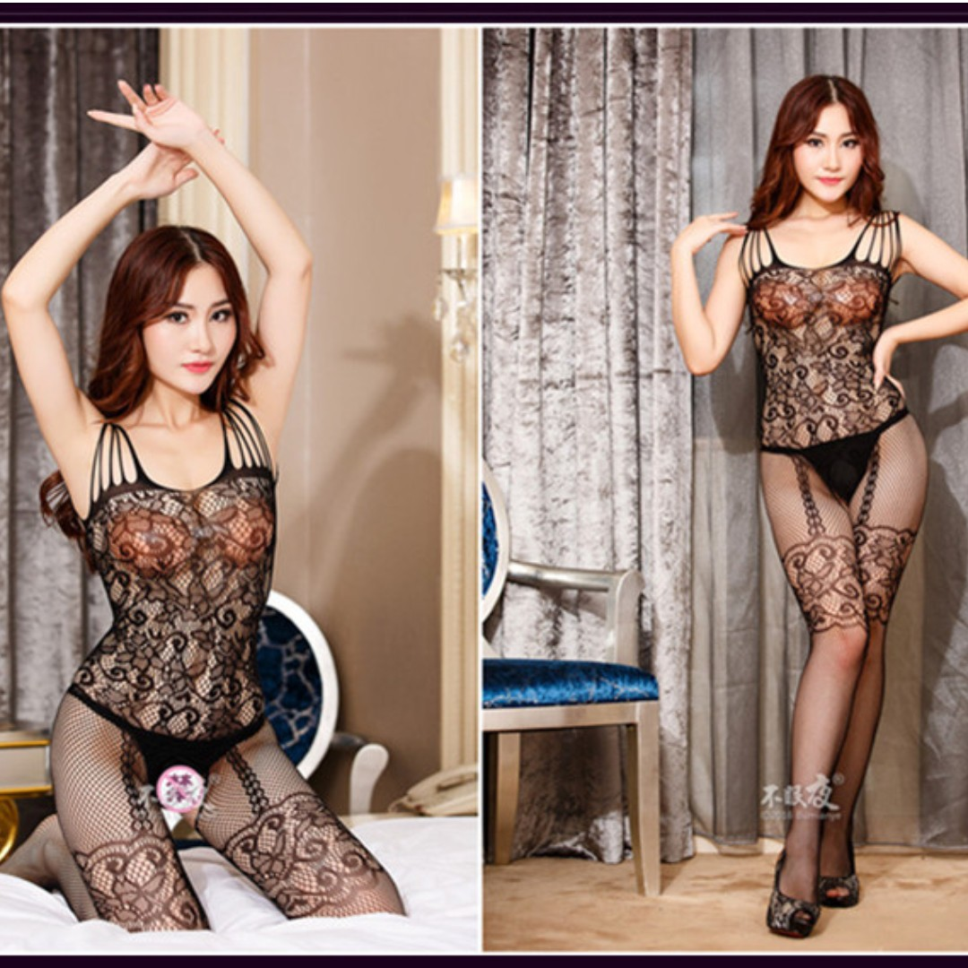 2a4239ff98 Sexy open crotch fishnet bodysuit bodystocking lingerie