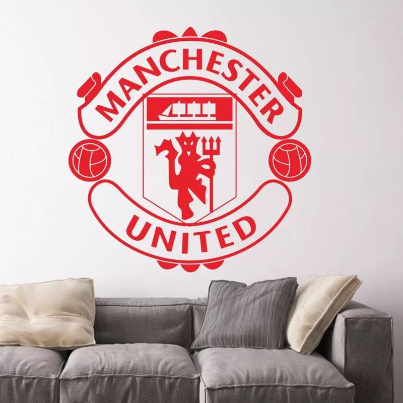 soccer manchester united wall decal / wall stickers/ home deco