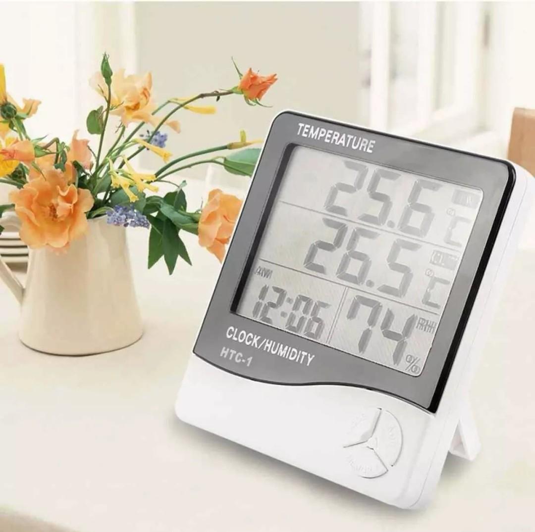 Temperature Humidity Meter Thermometer Hygrometer Digital Electronic Alarm Clock
