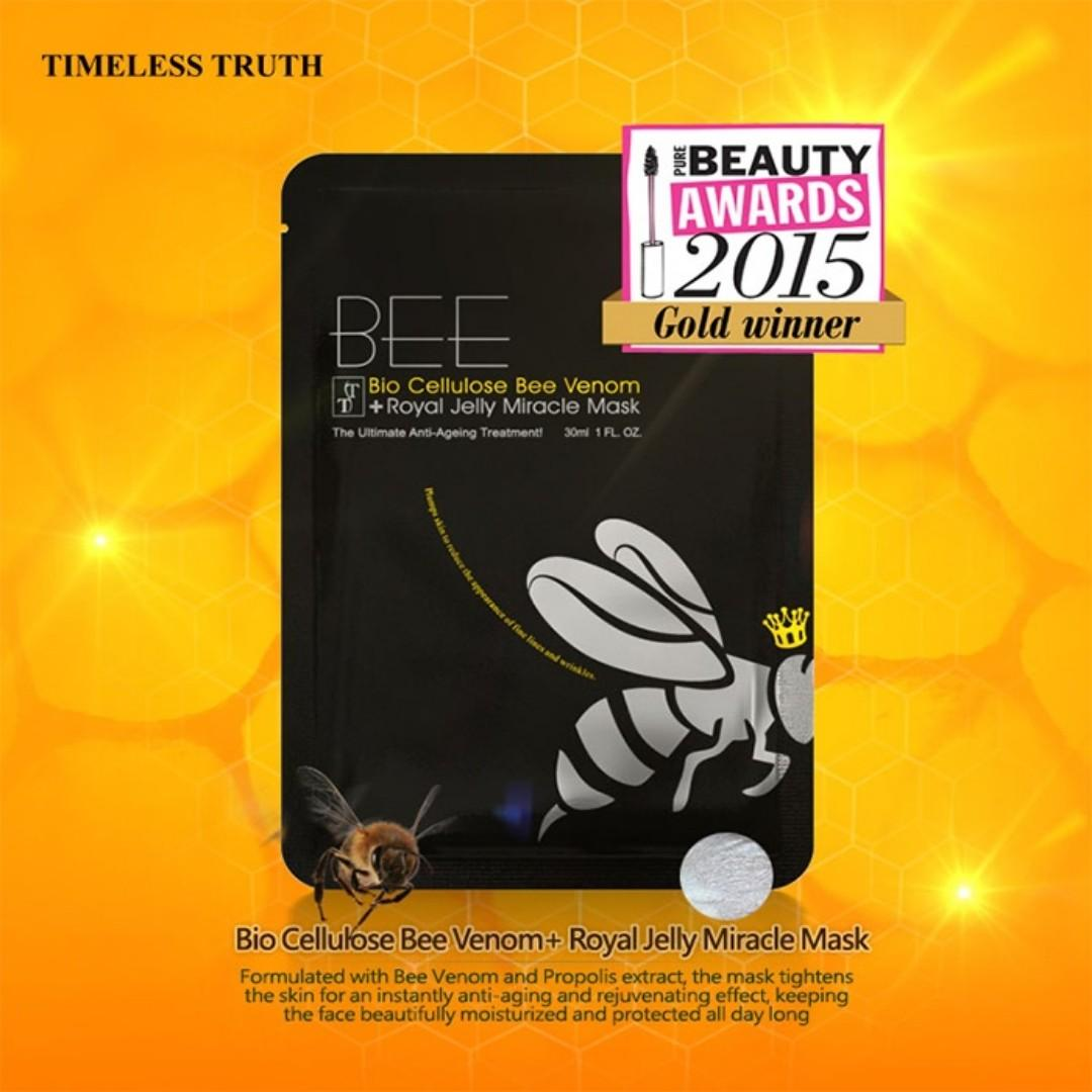Timeless Truth TT Bee Venom Miracle Facial Sheet Mask (Single Mask)