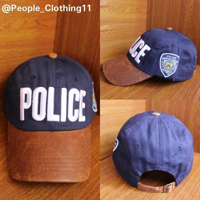 Topi Baseball Import Police, Men's Fashion, Men's Accessories, Caps & Hats on Carousell