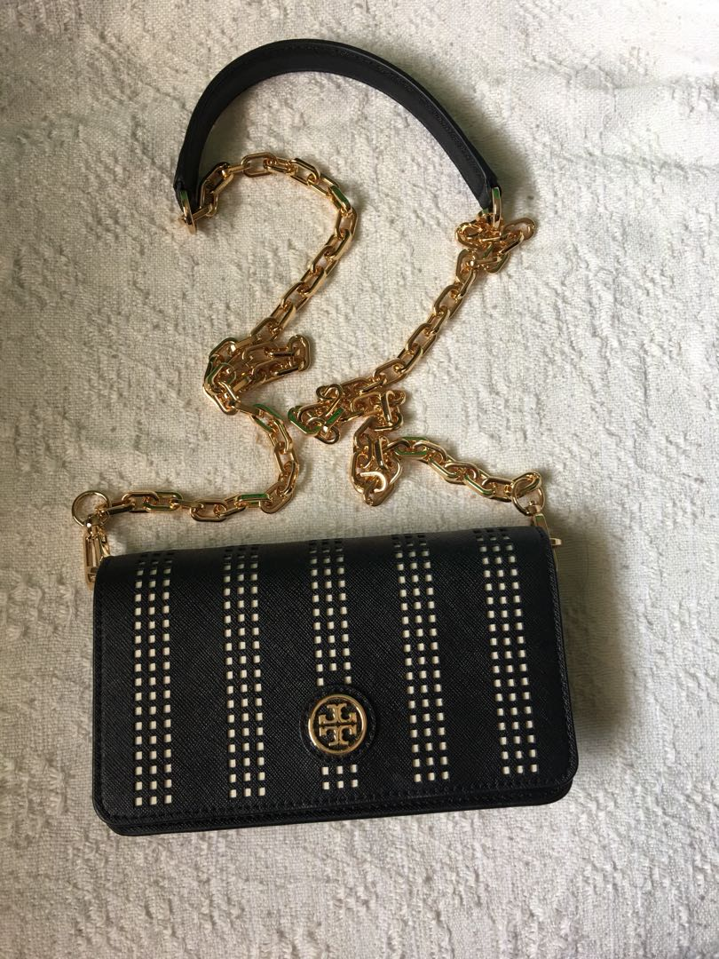 bc812fb22dc Tory Burch Mini Robinson Chain Bag