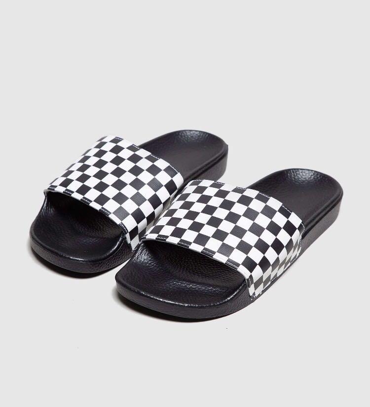 98d9b75bec0a Vans Checkerboard Slides