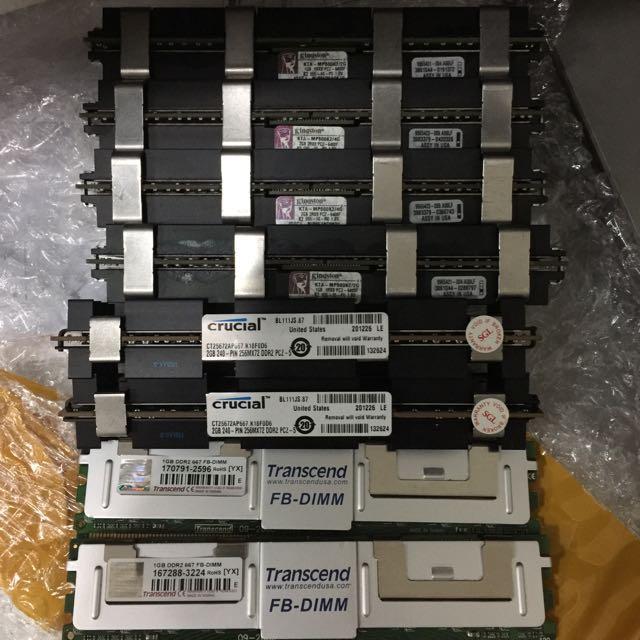 Various RAM PC2 5300 6400 ECC FB DIMM Apple Electronics