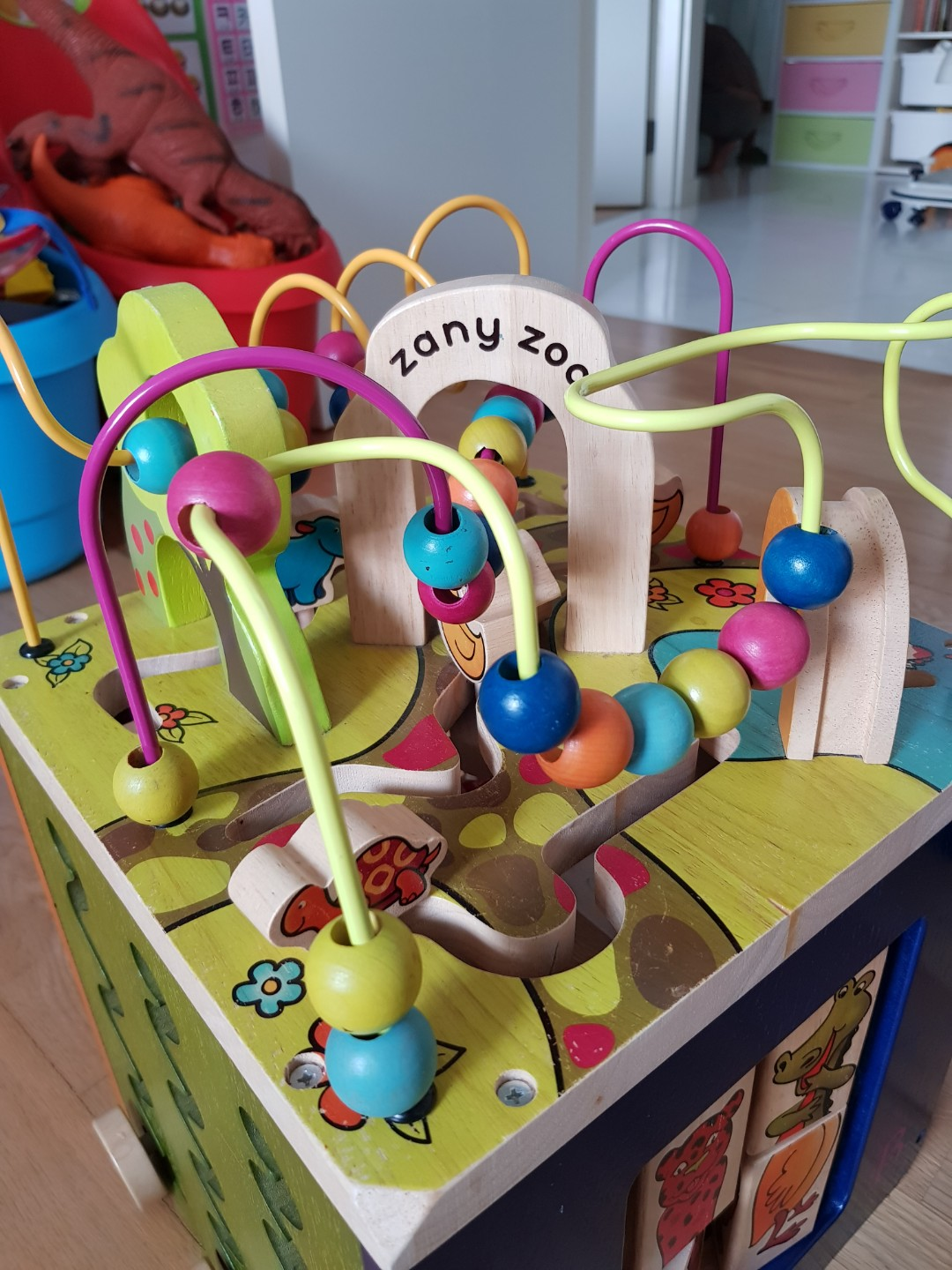 zany zoo wooden active cube, babies & kids, toys & walkers