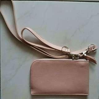 Nude coloured pouch