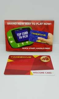 Limited Edition Timezone Time Zone Arcade Welcome Red Power Card