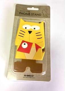 BNIP Mobile Phone Stand Desktop Series Yellow Cat