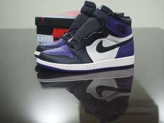 9US, 10.5US Air Jordan 1Court Purple