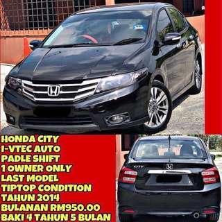 HONDA CITY 1.5 AUTO TAHUN DIBUAT (MANUFACTURE YEAR) 2014* FULLSPEC PADLE SHIFT 1 OWNER SAMBUNG BAYAR / CONTINUE LOAN