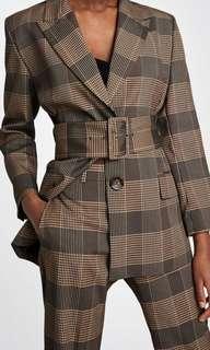 ZARA checked blazer