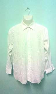 Crocodile Plain White Shirt