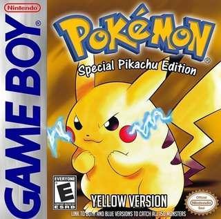 Pokemon yellow blue red