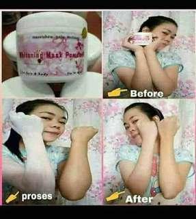 Whitening mask powder