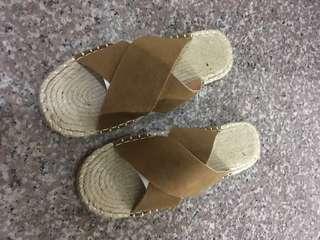 🚚 草編拖鞋