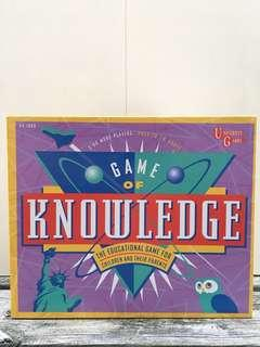 Vintage 1995 Game of Knowledge Board Game